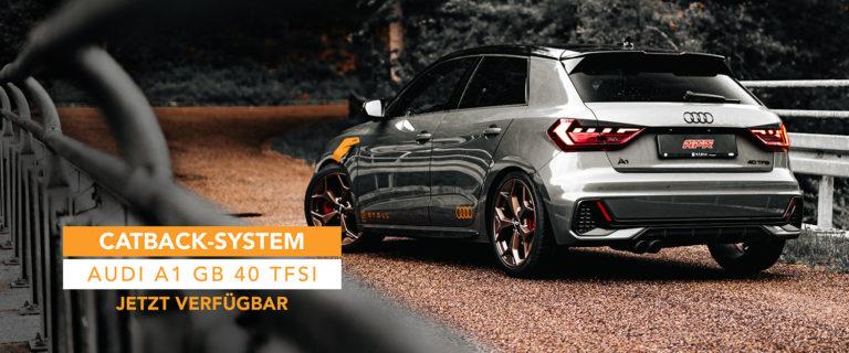 Titelbild APR Abgasanlage Audi A1 40 TFSI